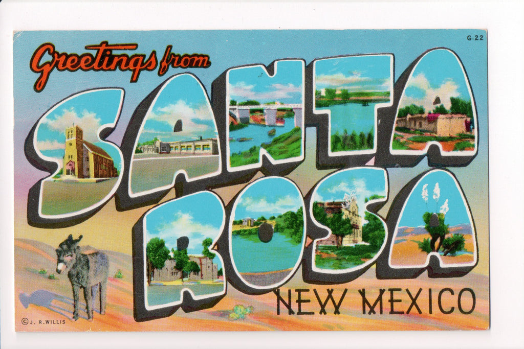 NM, Santa Rosa - Greetings from, Large Letter postcard - MT0011