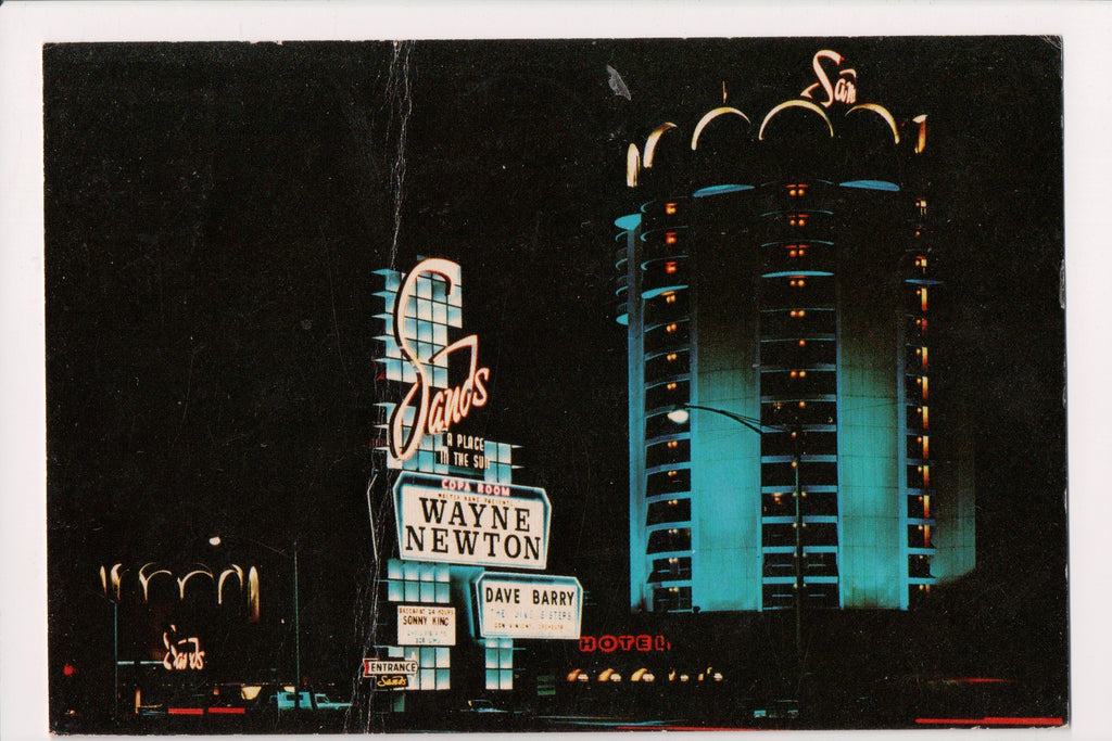 NV, Las Vegas - Sands Hotel w/Newton and Barry on marquis - NV0001