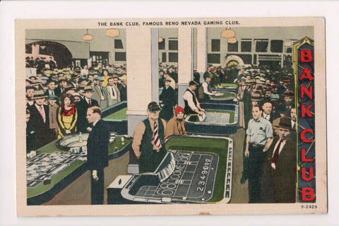 NV, Reno - Bank Club famous Gaming Club w/table and dealers etc - NV0004