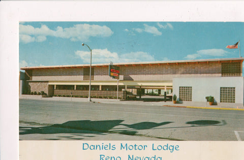 NV, Reno - Daniels Motor Lodge @1961 postcard - NV0007