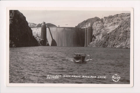 NV, Boulder Dam - view from Boulder Lake, Frashers RPPC - NV0010