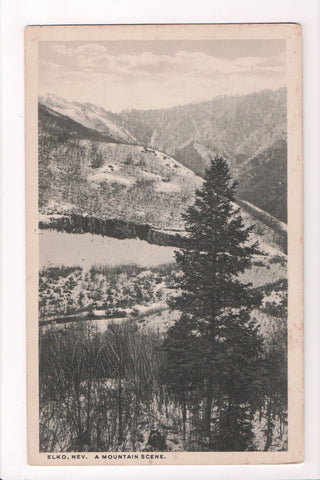 NV, Elko - A Mountain Scene - Jukes postcard - CP0182
