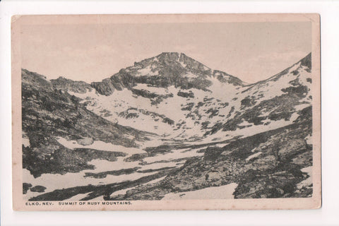 NV, Elko - Summit of Ruby Mountains - Jukes postcard - CP0183
