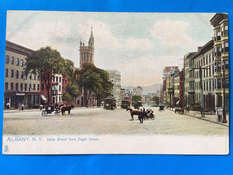 NY, Albany - State Street from Eagle Street - Tuck postcard - H15047
