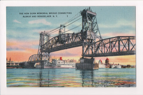 NY, Albany - New Dunn Memorial Bridge - TCRMS 1944 postmark - JJ0659