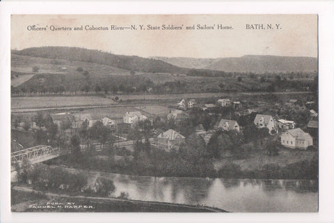 NY, Bath - Solders, Sailors Home, Officers Quarters, River - D17255