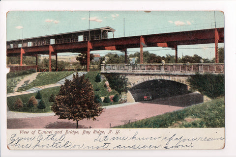 NY, Bay Ridge - Tunnel and Bridge closeup - B17063
