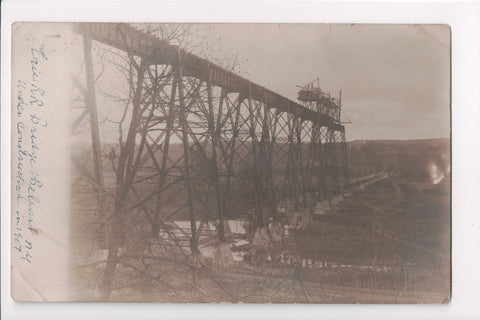 NY, Belfast - Erie Railroad Bridge, construction (ONLY Digital Copy Avail) - A05158