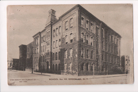 NY, Brooklyn - School #44, @1907 vintage Acme Novelty postcard - A12042