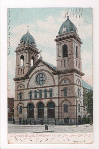 NY, Brooklyn - St Teresas Church, Sterling and Classen Ave - CP0736