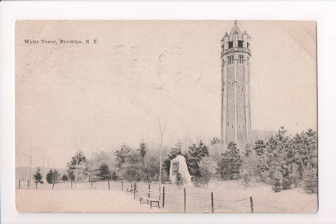 NY, Brooklyn - Water Tower, @1908 H Hagemeister Co postcard - MB0149