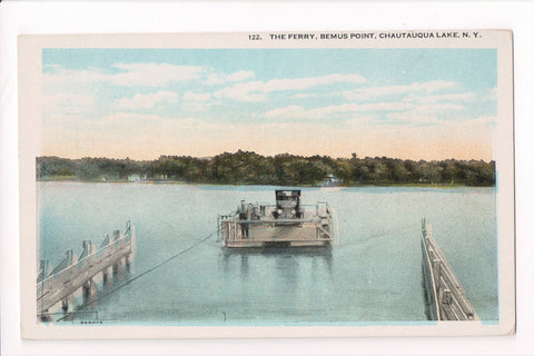 NY, Bemus Point - Chautauqua Lake FERRY postcard - D17384