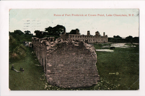 NY, Lake Champlain - Ruins of Fort Frederick, Crown Point @1910 - A12123