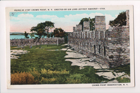 NY, Crown Point - Ruins of Fort Crown Point @1958 - D18086