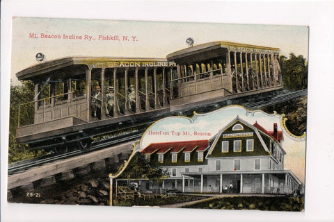 NY, Fishkill - Mt Beacon Incline Railway, Beaconcrest Hotel - T00320