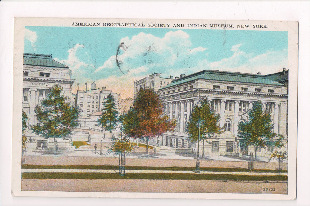 NY, New York City - American Geographical, Indian Museum - NOTIFY YOUR slogan -