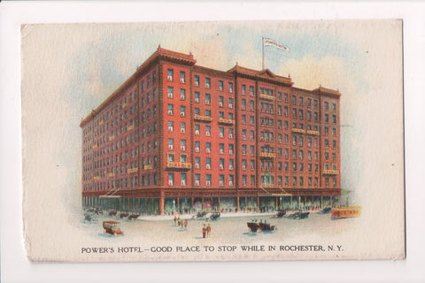 NY, Rochester - Powers Hotel - @1915 East Avenue Station Flag cancel - w01149