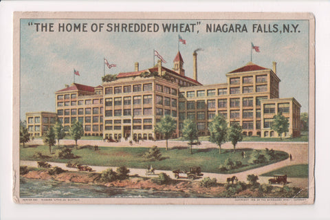 NY, Niagara Falls - Home of Shredded Wheat - @1916 Falls Station Flag cancel - S