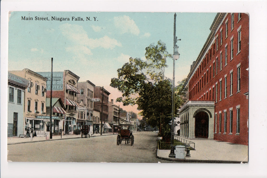 NY, Niagara Falls - Main St with signs postcard - T00102