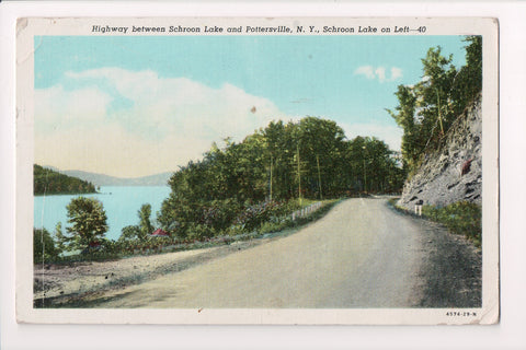 NY, Schroon Lake and Pottersville - Highway - BUILD YOUR FUTURE logo - 500232