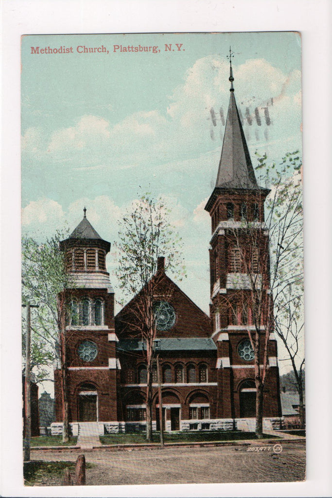 NY, Plattsburg - Methodist Church postcard - A12045
