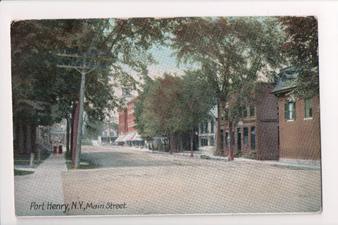 NY, Port Henry - Main St - ALBURG and OGD Tr 6 RPO cancel - C06302