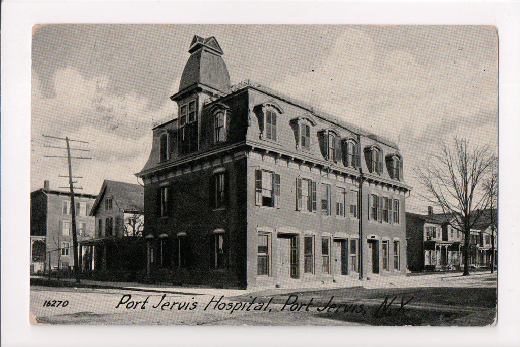 NY, Port Jervis - Hopital postcard - D05330