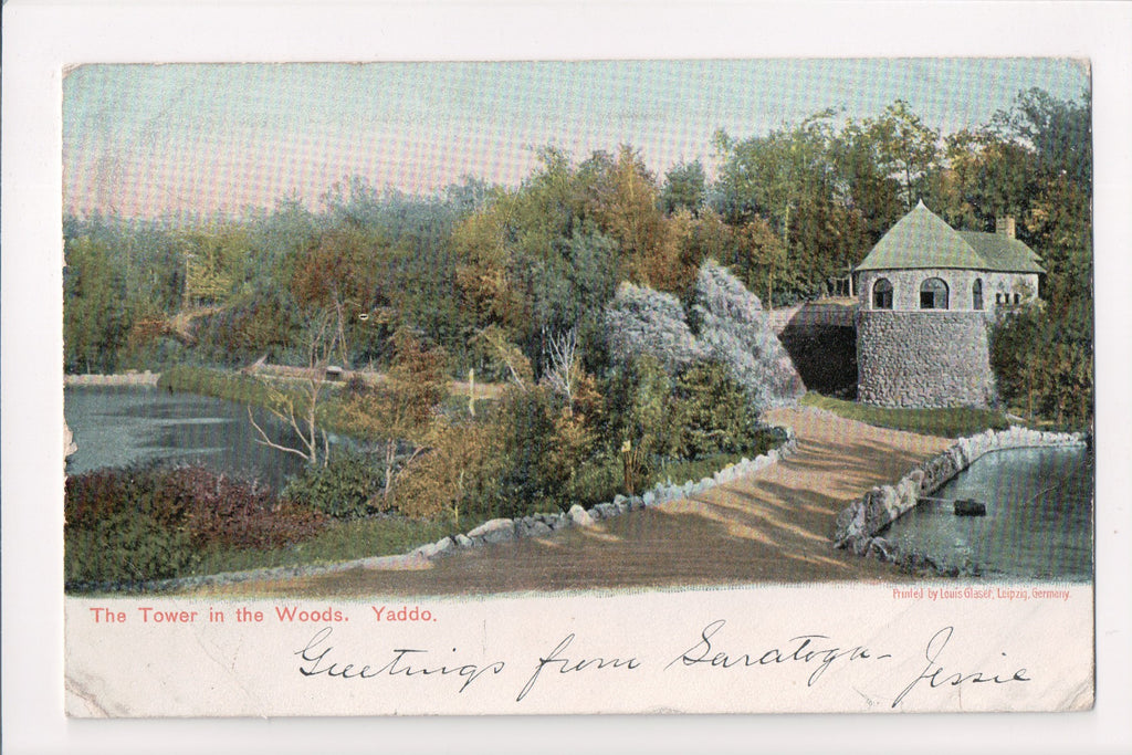 NY, Saratoga Springs - Yaddo, Tower in the Woods - B10042