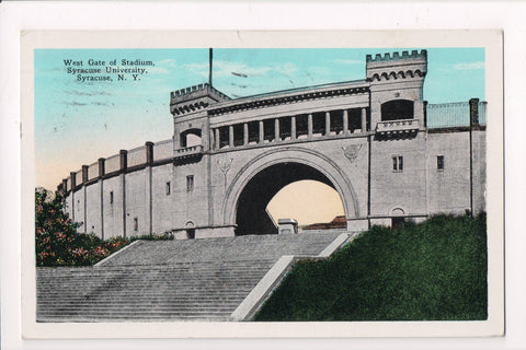 NY, Syracuse - Syracuse University, West Gate of Stadium @1930 - 500101
