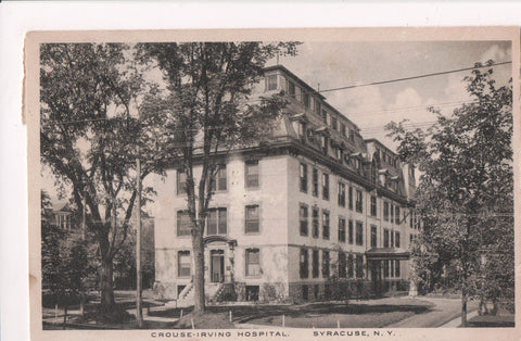 NY, Syracuse - Crouse Irving Hospital - @1918 postcard - D17394