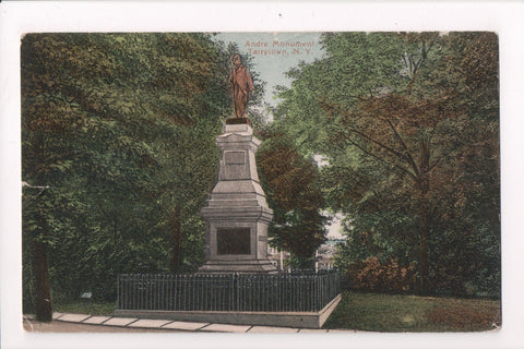 NY, Tarrytown - Andre Monument closeup - @1923 postcard - w04968