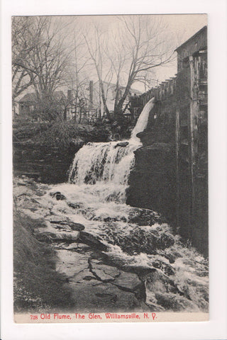 NY, Williamsville - Old Flume, The Glen - DPO cancel postcard - 505149