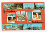 OH, Ohio - Greetings from, Large Letter postcard - B08294