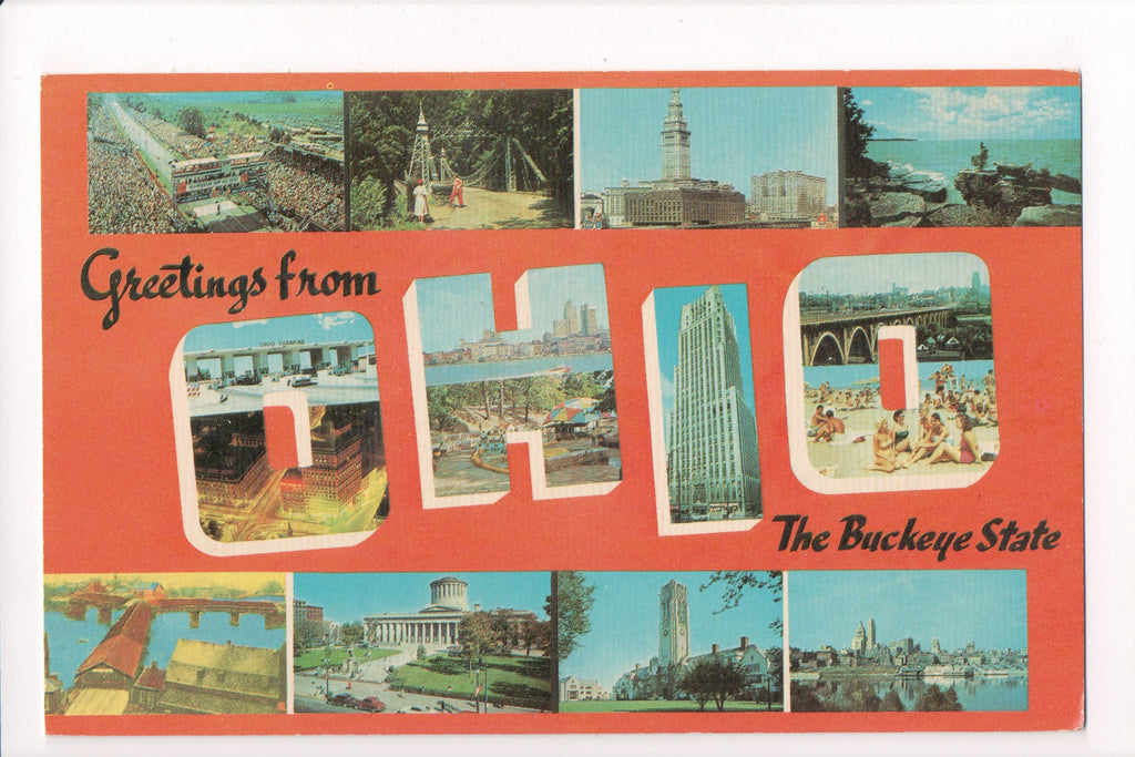 OH, Ohio - Greetings from, Large Letter postcard - MT0016