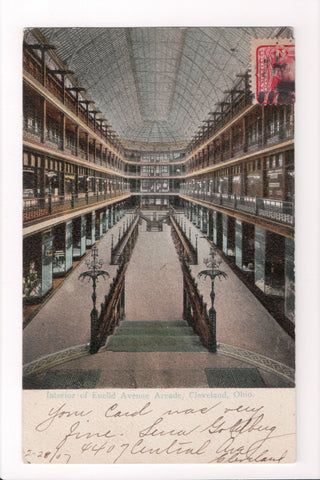 OH, Cleveland - Euclid Ave Arcade interior - great shot - A07122