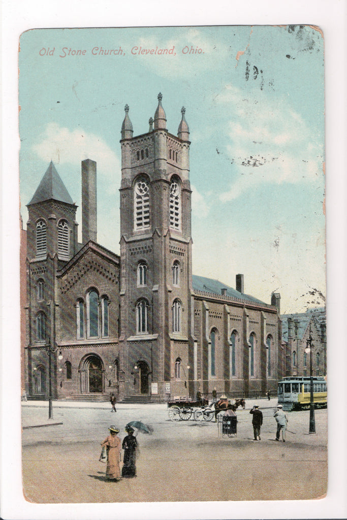 OH, Cleveland - Old Stone Church postcard - B04225