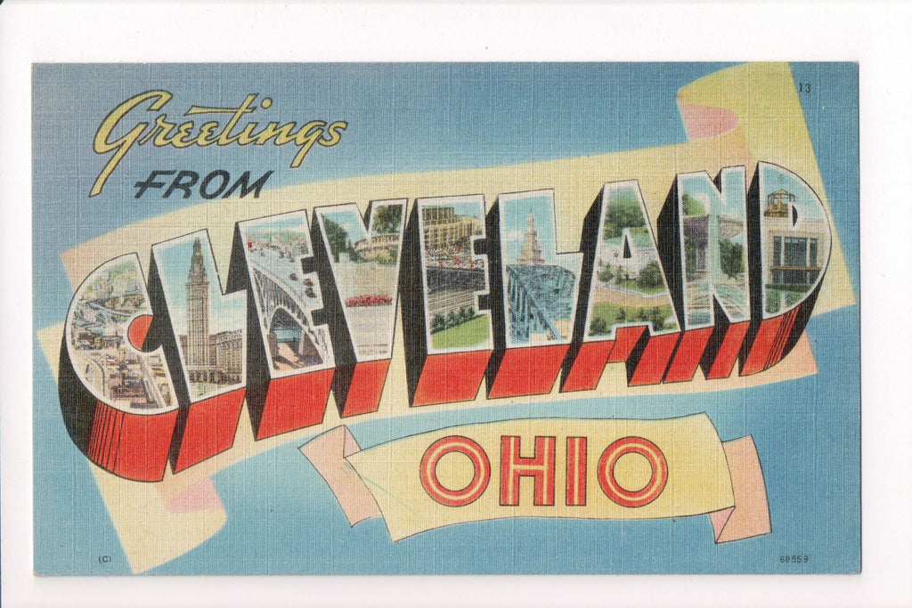 OH, Cleveland - Greetings from, Large Letter (ONLY Digital Copy Avail) - B08286