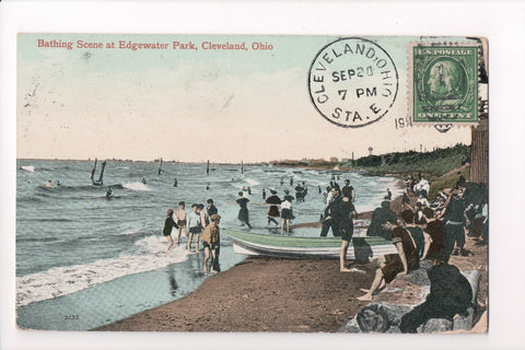 OH, Cleveland - Edgewater Park, Bathing scene - CP0308