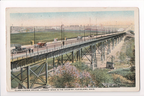 OH, Cleveland - Clark Ave Bridge, close up - Braun Post Card Co - S01535