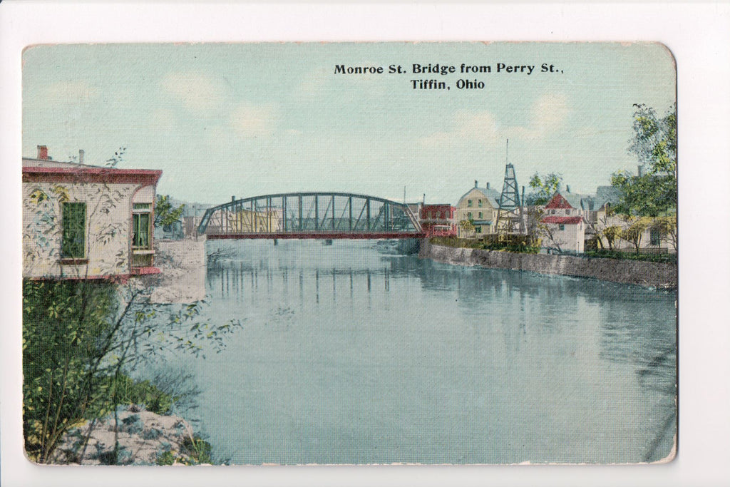 OH, Tiffin - Monroe St (steel) Bridge - J Bouton and Co - CP0307