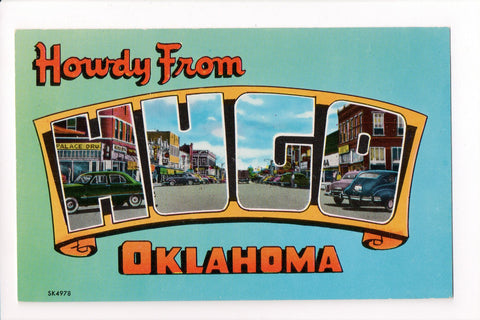 OK, Hugo - Greetings from, Large Letter postcard - C-0199