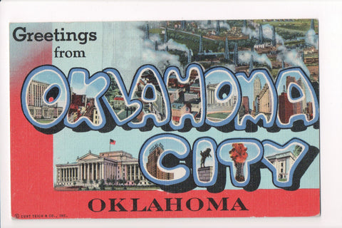 OK, Oklahoma City - Greetings from, Large Letter postcard - B08285