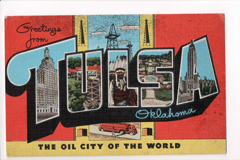 OK, Tulsa - Greetings from, Large Letter postcard - C08576
