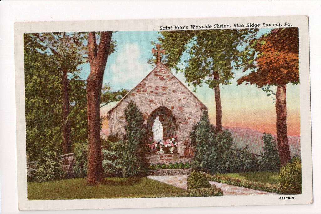PA, Blue Ridge Summit - Saint Ritas Wayside Shrine - C08609
