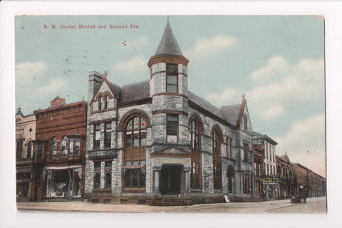 PA, Clearfield - Market and Second Sts - Bank, Dr Leipold Dentist - @1912 - C086