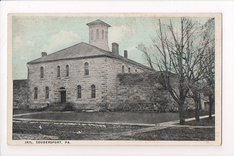 PA, Coudersport - Jail postcard - w03221