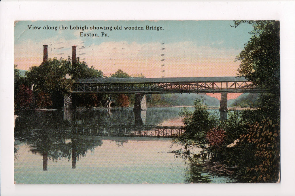 PA, Easton - Old Wooden Bridge, Lehigh River (ONLY Digital Copy Avail) - B17168