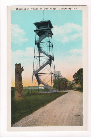 PA, Gettysburg - Oak Ridge Observation Tower, Totem Pole - B17049