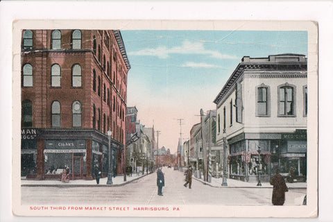 PA, Harrisburg - South Third - D08031 - postcard **DAMAGED / AS IS**