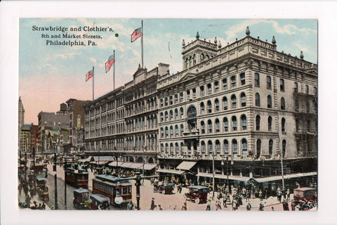 PA, Philadelphia - Strawbridge and Clothiers - 8th and Market Sts - CP0472